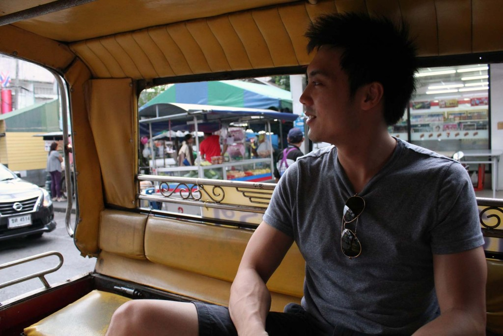 Travelling to floating market. Took us about 15 minutes from the cty