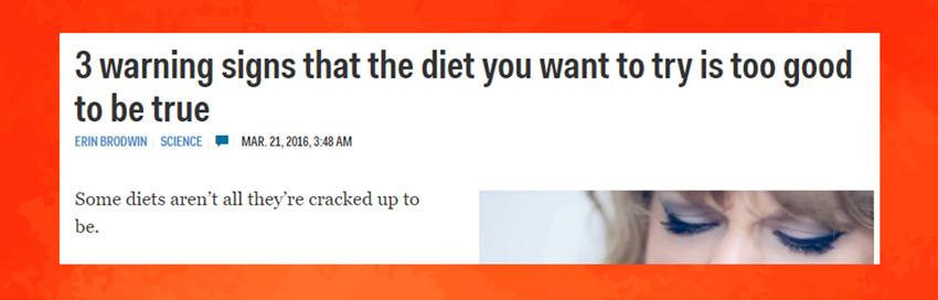 A danger type of headline