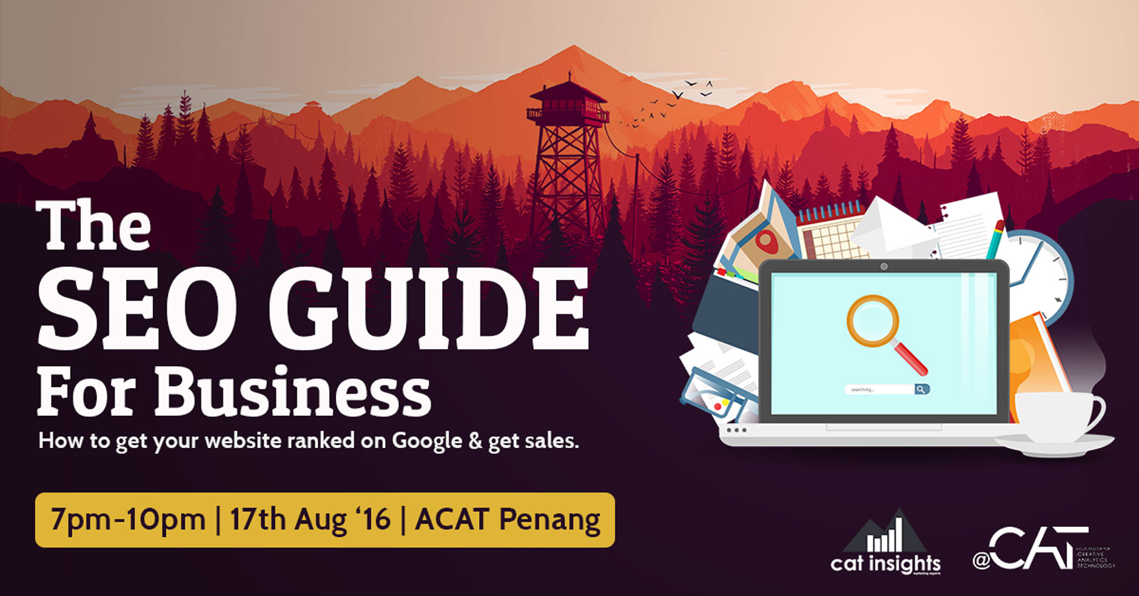 Event : The SEO Guide For Business Course at ACAT, Penang